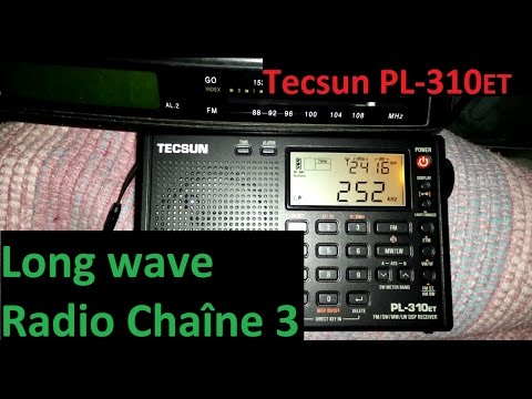 Radio Chaîne 3 received in Portugal - LW DX - Tecsun PL-310ET