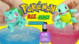 POKEMON BULBASAUR vs SQUIRTLE Nail Polish Challenge