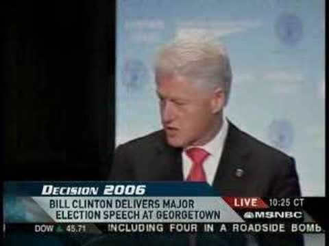 Bill Clinton Speech (Georgetown)