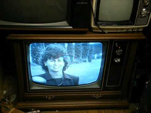 1978 sylvania 22 b w solid state console tv youtube for Floor model tv