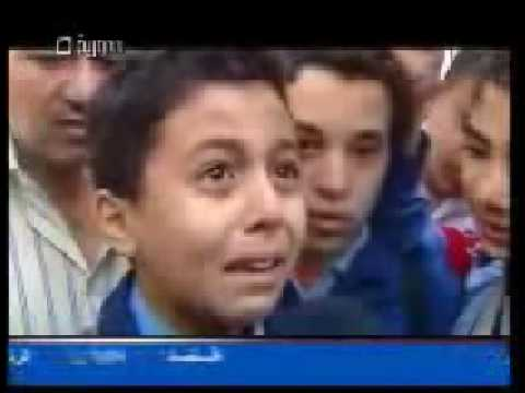Children of tomorrow crying for Gaza- طفل سوري يبكي على غزه