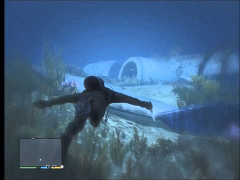 GTA V - Massive Underwater Plane Wreck | Commercial Airliner