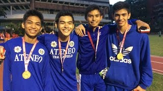 UAAP 77 Track and Field 4x400m relay for boys Ateneo Gold