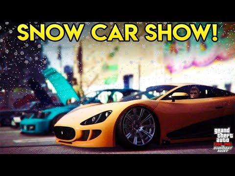 GTA Online - SNOW DOOMSDAY DLC CAR SHOW! (Awesome Customization)