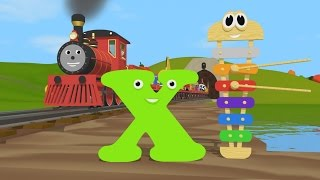 Learn about the Letter X and Colors - The Alphabet Adventure With Alice And Shawn The Train