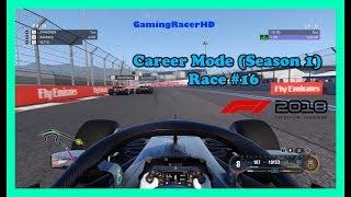 F1 2018 - Career Mode (Season 1) Race #16 - Russian Grand Prix [1080p 60FPS]