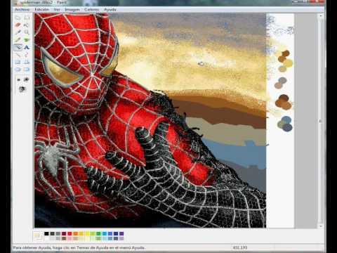 เก่งสุด วาดสไปเดอร์ด้วยโปรแกรม paint