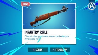 """NEW """"INFANTRY RIFLE"""" Gameplay! // Pro Console Player // 1800+ Wins (Fortnite Battle Royale LIVE)"""