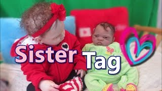Sister Tag All4Reborns Winter Silicone Baby & Reborn Toddler Summer Reborn Baby Dolls Talk Funny!