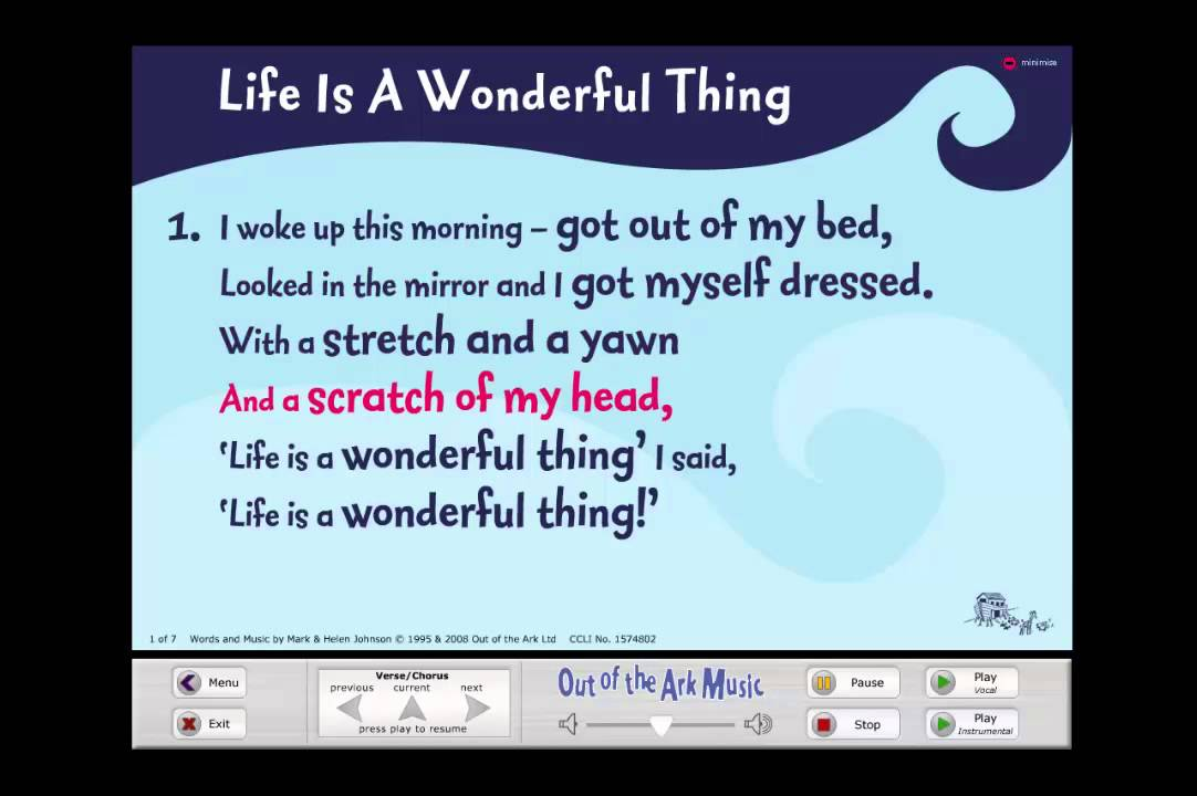 Life Is A Wonderful Thing Words On Screen Youtube