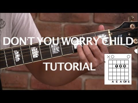 Como Tocar don't You Worry Child De Shm - Tutorial Guitarra (hd) video