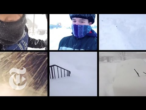 media winter snow storm hits us east coast