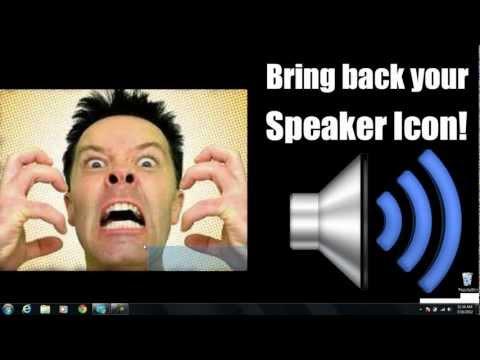 Speaker Icon Missing - Windows 7 / Vista Tutorial