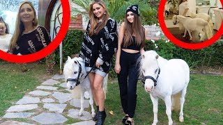 PRANKING MY MOM WITH HORSES IN THE HOUSE!!