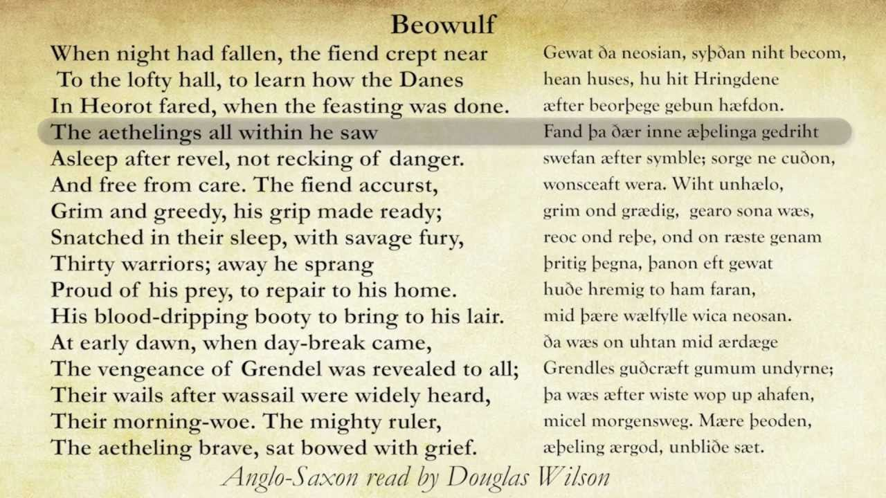 eulogy for beowulf A great man has died his deeds will not go unnoticed his values will never be forgotten for this man was a warrior.