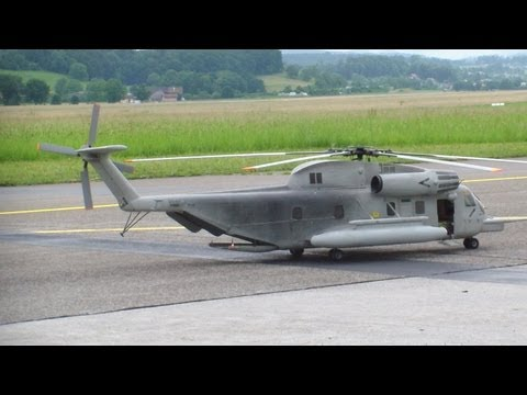 RC Sea Stallion CH53, very Big 6 Blade  Scale Helicopter Swiss Heli Challenge 2013