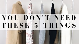 5 Things You Don't Need In Your Closet | Audrey A La Mode