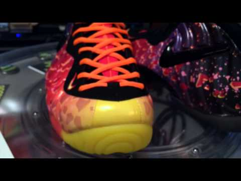 @Nike Air Foamposite Pro Premium - w/ orange lace swap - Asteroids - Black / Fire