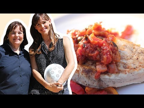 Ina Garten And Jennifer Garner Make Swordfish Provencal | Food Network