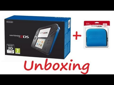 Nintendo 2DS Blue & Black Unboxing & Official Blue 2DS Case Unboxing