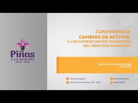Conferencia, cambios de actitud  a los comerciantes minoristas del mercado municipal