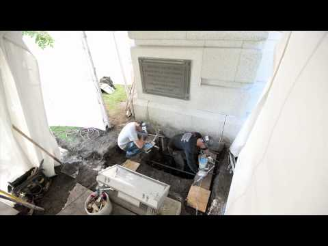 Alberta Legislature Building time capsule unearthing - time lapse