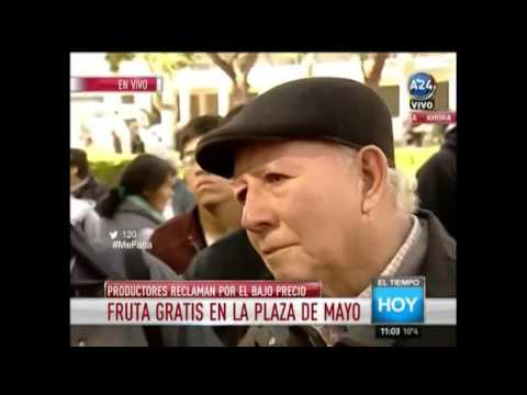 VIDEO: El llanto de un jubilado al quedarse sin fruta