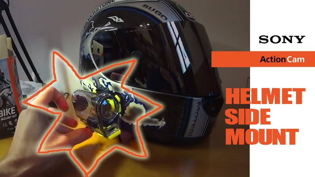 Helmet Side Mount Sony Action Cam Helmet Side