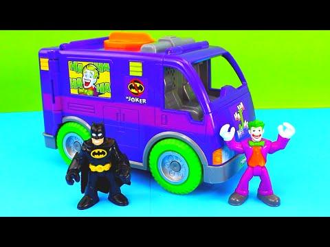 Imaginext Joker and Ninja Warriors plan an attack on Batman Fight breaks out Just4fun290 van