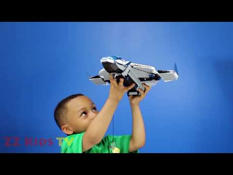 AVENGERS LEGO QUINJET SET ⎜Surprise Toys⎜Avenger Toys⎜ ZZ Kids Toy Family Fun