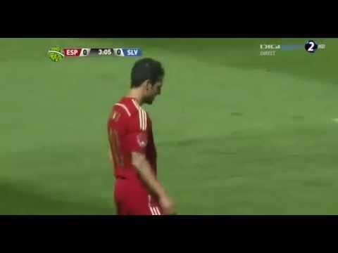 Cesc Fabregas Penalty Miss Spain vs Salvador HD 08 06 2014