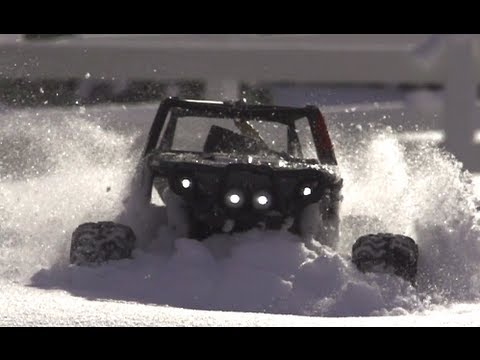 Super Slow Motion Axial Wraith in the Snow