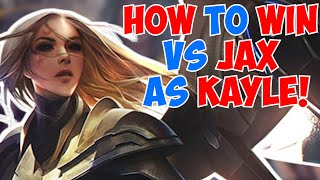 HOW to win vs JAX as KAYLE! | League of Legends | Full Gameplay | kayle 1v9