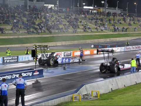 Top Fuel Drag 1/4 mile - 8000 HP - Kwinana Motorplex - Awesome Header Flames - December 2008