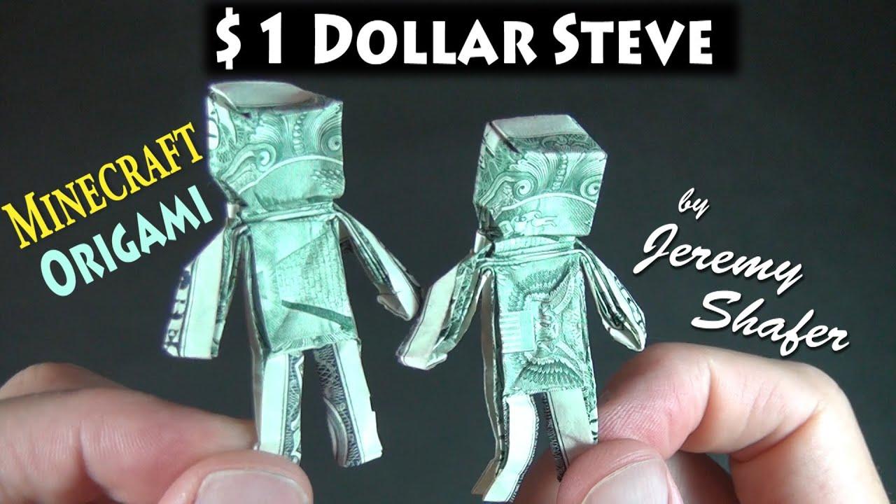 Origami Minecraft Steve - YouTube - photo#17