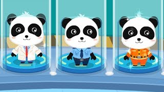 Baby Panda's Brave Jobs - Little Panda Play as a Policeman, Fireman, Astronaut - Babybus Kids Video