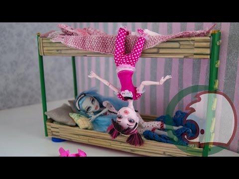 Bunk bed. Как сделать двухъяруснуюную кровать для кукол. How to make a bunk bed for your dolls.