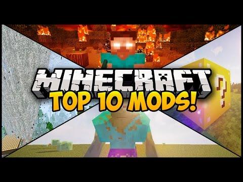 TOP 10 MINECRAFT MODS FOR MINECRAFT! (Minecraft Top 10 Mods) (Minecraft Mod Showcase)