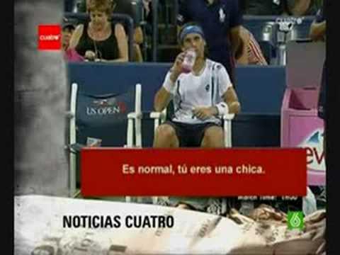 David Ferrer, tenista alicantino, número 4 del mundo, en el partido de US Open que le enfrenta a Kei Nishikori arremete contra la Juez de silla diciendo que ...