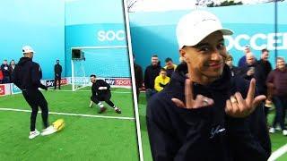 Jesse Lingard vs Tom Kerridge | Penalties, volleys, freekick & crossbar challenge | Soccer AM Pro AM