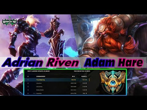 Adrian Riven Riven vs Gragas Top - Best Riven Plays - LOL Riven -  league of legends