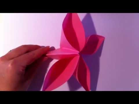 origami blume selber basteln papierblume falten youtube. Black Bedroom Furniture Sets. Home Design Ideas
