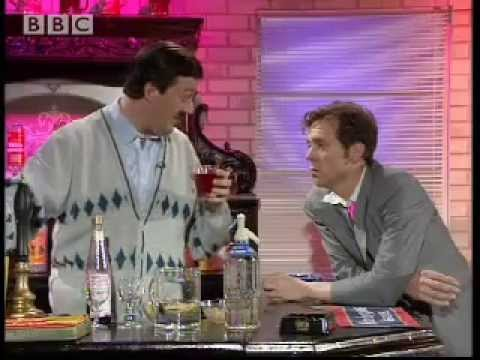 Stephen Fry as the understanding barman - A bit of Fry & Hugh Laurie - BBC comedy Video