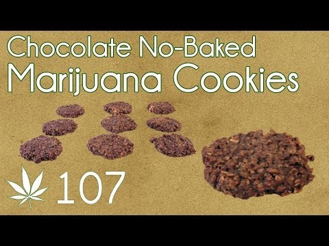 No Bake Cannabis Chocolate Cookies Cooking with Marijuana #107