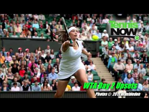 Wimbledon Day 2, Federer and Djokovic Win, Women's Upsets, Video Contest
