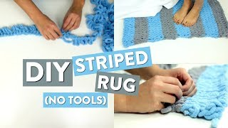 DIY STRIPED RUG | Easy Looping Project