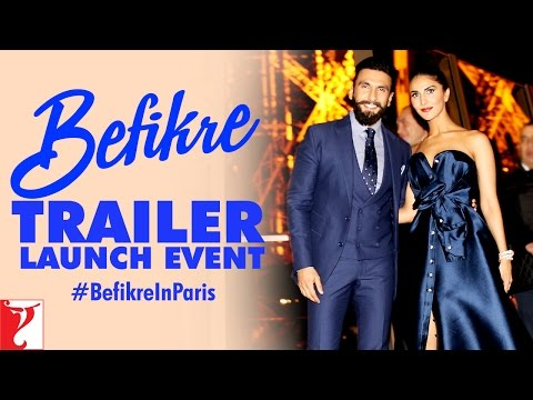 Befikre Trailer Launch Event At Eiffel Tower | Paris | Ranveer Singh | Vaani Kapoor