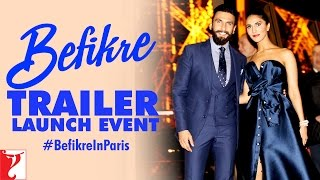 Befikre Trailer Launch Event at Eiffel Tower   Paris   Ranveer Singh   Vaani Kapoor