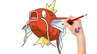 How To Draw Pokemon Magikarp For Toddlers - Learning Drawing - Puzzle Kid