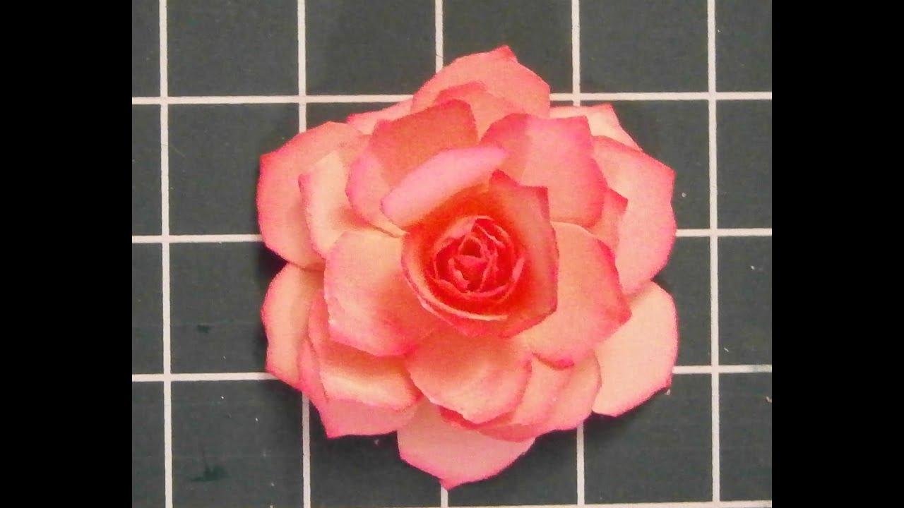 muttertag eine papier rose selber basteln youtube. Black Bedroom Furniture Sets. Home Design Ideas